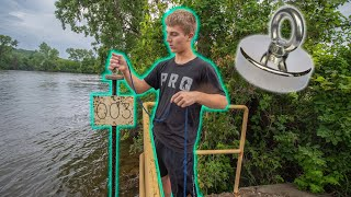 We Went Magnet Fishing Next To A Mill And You Won't Believe What We Found