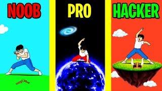 NOOB vs PRO vs HACKER in TAP TAP BREAKING!