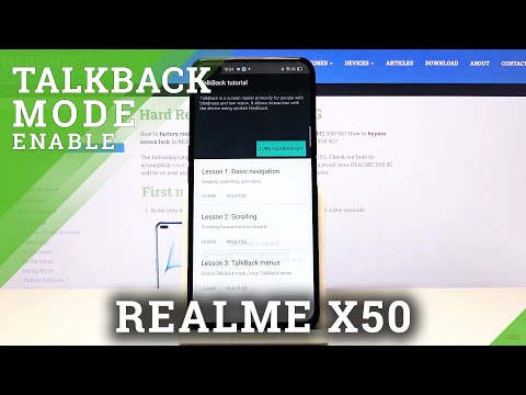 How to Enable Talkback in REALME X50 5G - Screen Reader