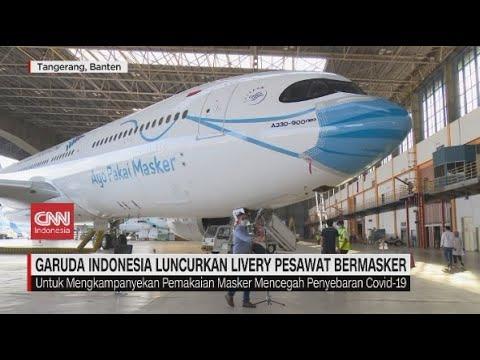 "Penampakan ""Masker"" di  Pesawat Garuda Indonesia"