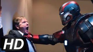Iron Man 3 - Fake Mandarin Scene | Kidnapping The President Scene
