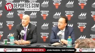 John Paxon and Gar Forman Chicago Bulls vs  Philadelphia 76ers