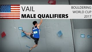 Vail Bouldering World Cup 2017 | Male Qualifiers