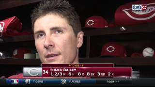 Cincinnati Reds starter Homer Bailey: 'No excuses. I just didn't pitch well'