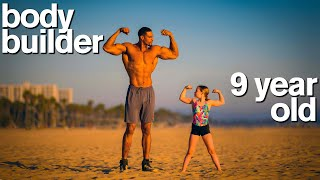 BODYBUILDER vs MY DAUGHTER - Adorable Fitness and Gymnastics Challenge