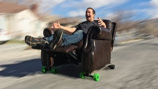 Electric Skateboard Recliner with 60,000 PSI Waterjet Channel - How to Make the Best Inventions