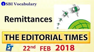 Remittances | The Hindu | The Editorial Times | 22nd Feb 2018 | Newspaper | UPSC | SSC | Bank