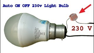 How to make 230 v Auto ON OFF light bulb circuit, diy Dark sensor