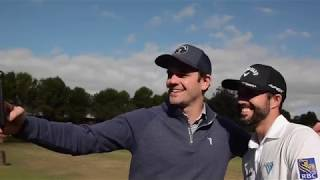 Neil (sort of) interviews pro golfers