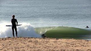 Scoring CLEAN shorebreak waves after first winter storm - RAW