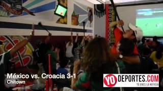 Gigantesca fiesta en Chitown para el juego México vs Croacia