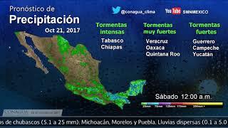20 de octubre de 2017 07:00h Pronóstico del Tiempo