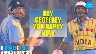 Azhar's back to back SIXES Embarrassed Commentator Geoffrey Boycott !!