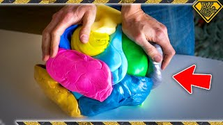 Emptying 1,000 Silly Putty Eggs