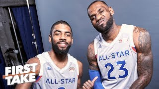 Kyrie joining the Lakers would 'save the end' of LeBron's career - Max Kellerman   First Take
