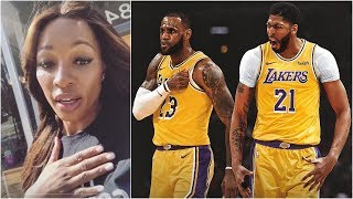 Cari Champion reacts to Anthony Davis being traded to the Lakers