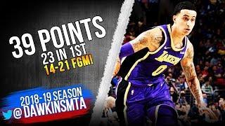 Kyle Kuzma Full Highlights 2019 02 10 Lakers vs 76ers 39 Pts 23 in 1st! FreeDawkins