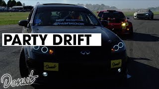 PARTY DRIFT With Grandtheft and Keys N Krates   Donut Media