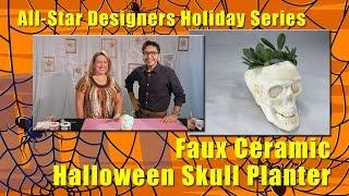 All-Star Designers Holiday Series: Faux Ceramic Halloween Skull Planter