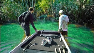 Bushwhacking For Big Tropical Fish (SECRET Lake Found)