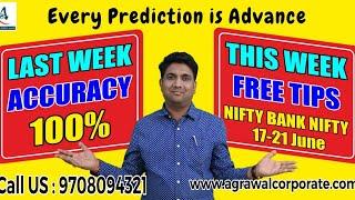 NIFTY NEXT WEEK ADVANCE PREDICTION(17-21 JUNE) | Stock Market | Technical Analysis | Mukul Agrawal