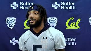 Cal Football Post Practice - S Trey Turner III 10/14/19