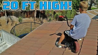 BMX ROOF JUMPING WITH CRAZY 8 YEAR OLD