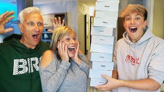 Destroying Mom & Dad's iPhone's & Buying them 100 New Ones... ($100,000)