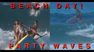 BEACH DAY WITH PARTY WAVES!