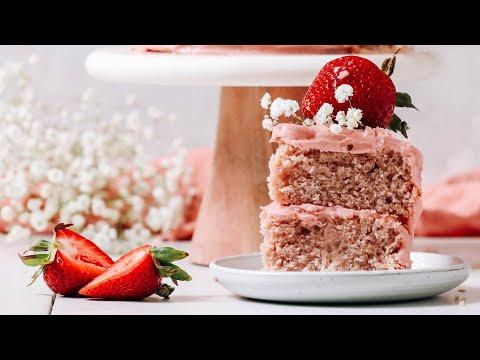 Vegan Strawberry Cake (GF) | Minimalist Baker Recipes