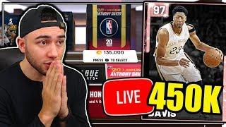 PINK DIAMOND ANTHONY DAVIS LIVE 450K VC PACK OPENING! NBA 2K19 MyTeam