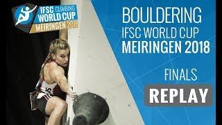IFSC Climbing World Cup Meiringen 2018 - Bouldering - Finals - Men/Women