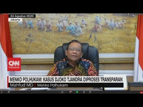 Mahfud MD: Kasus Djoko Tjandra Diproses Transparan