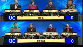 University Challenge - Christmas 2014 E06 University of York vs University of Surrey
