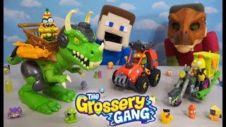 Grossery Gang DINOSAUR JURRASIC WORLD WAR! Vehicles Unboxing