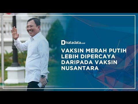 Hasil Survei: Vaksin Merah Putih Lebih Dipercaya Daripada Vaksin Nusantara   Katadata Indonesia