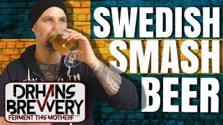 Swedish Smash beer all grain to glass brewing recipe and tasting 4k Ultra HD