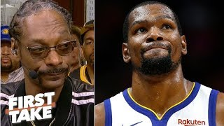 KD to the Knicks is like LeBron joining the Lakers – why would you do it? – Snoop Dogg   First Take