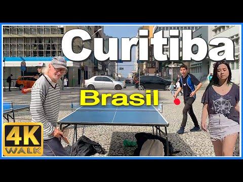 【4K】WALK CURITIBA Parana BRAZIL 4k video SLOW TV travel vlog