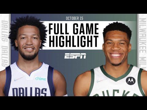 Dallas Mavericks at Milwaukee Bucks   Full Game Highlights
