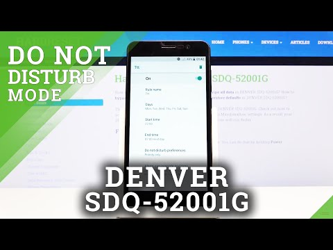 How to Use Do Not Disturb Mode in DENVER SDQ-52001G - Mute Sounds