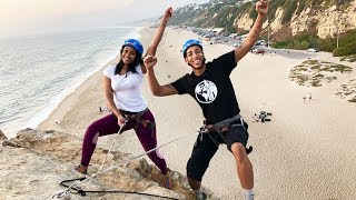 WE ALMOST DIED DOING THIS! *ROCK CLIMBING GONE WRONG*