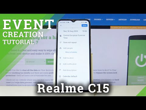 How to Add Event to Calendar in REALME C15 – Event Notifications