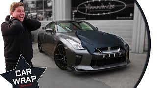 Behzinga's Nissan GT-R wrapped Stealth Satin Black