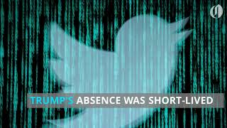 Donald Trump's twitter account briefly disappeared Thursday