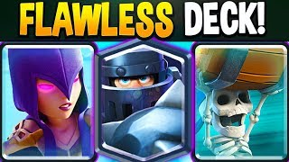 INSANE NEW WITCH DECK goes FLAWLESS on Clash Royale Ladder!