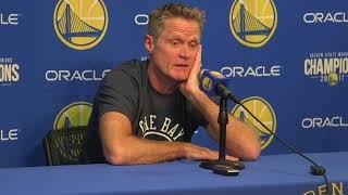 Steve Kerr reacts to Gordan Hayward's gruesome leg injury