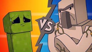 EPIC MINEQUEST 4   ″Creeper VS Iron Golem″ by Sam Green Media