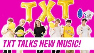 TXT (TOMORROW X TOGETHER) Interview + 'Cat & Dog' Dance Tutorial With Liam McEwan
