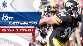 T.J. Watt's Best Plays Against Atlanta | Falcons vs. Steelers | Preseason Wk 2 Player Highlights